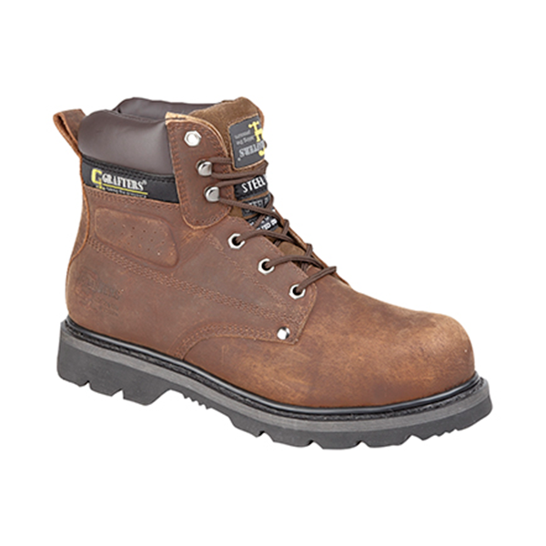 GRAFTERS SAFETY BOOT WITH MIDSOLE - STEEL