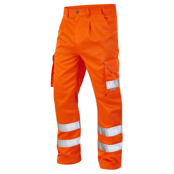 High Vis Cargo Trousers Orange