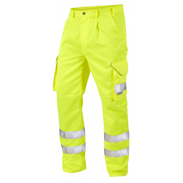 High Vis Cargo Trousers Yellow