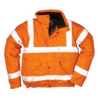 High Visibility Orange Bomber Jacket