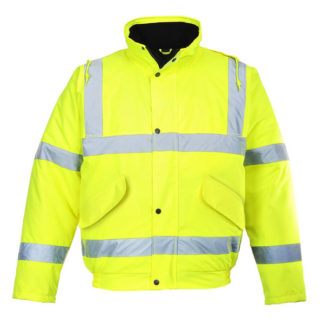 High Visibility Yellow Bomber Jacket