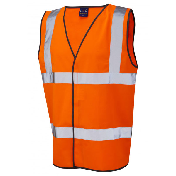 High Visibility Orange Waistcoat