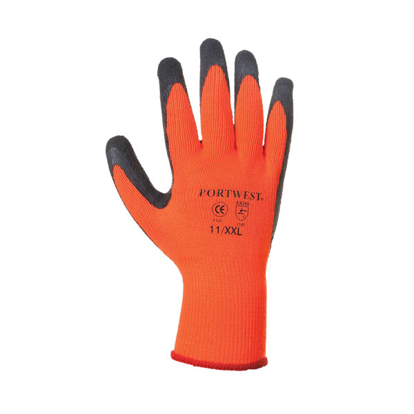 Thermal Hi Vis Grip Gloves