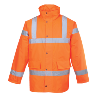 Hi Vis Orange Traffic Jacket